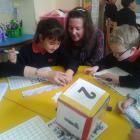Mrs. Frost playing Maths games with FS2 Red