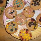 These are the biscuits we decorated.