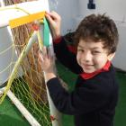 Youssef found right angles on his favourite playground equipment