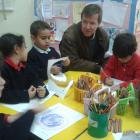 Mr. Clement colouring with FS2